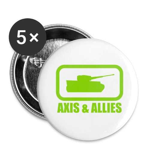 Tank Logo with Axis & Allies text - Multi-color - Buttons large 2.2'' (5-pack)