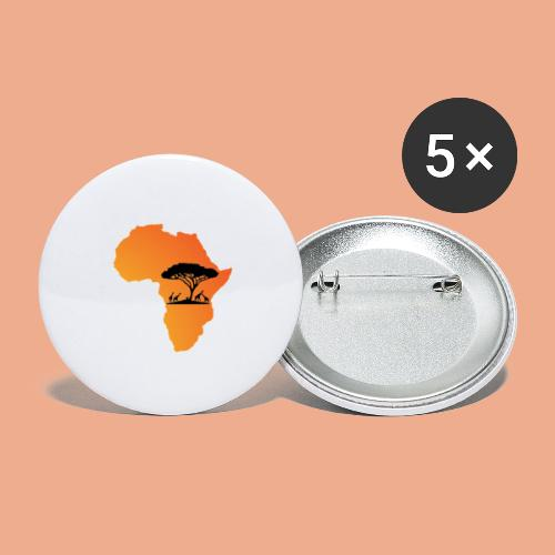 Africa Map - Buttons large 2.2'' (5-pack)