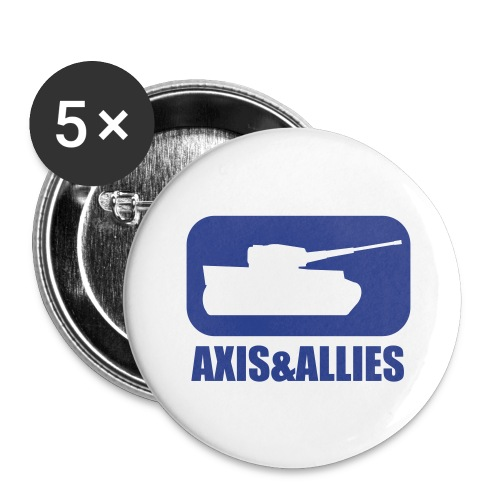 Axis & Allies Tank Logo - Dark - Buttons large 2.2'' (5-pack)