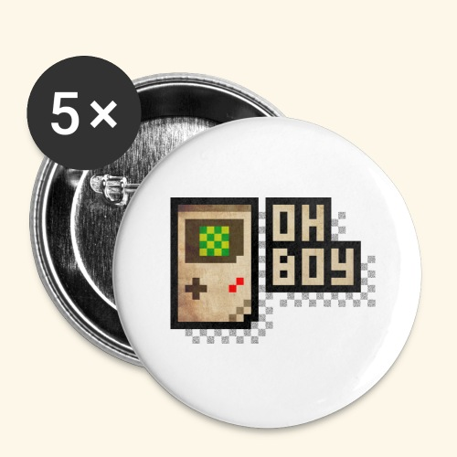 Oh Boy - Buttons large 2.2'' (5-pack)