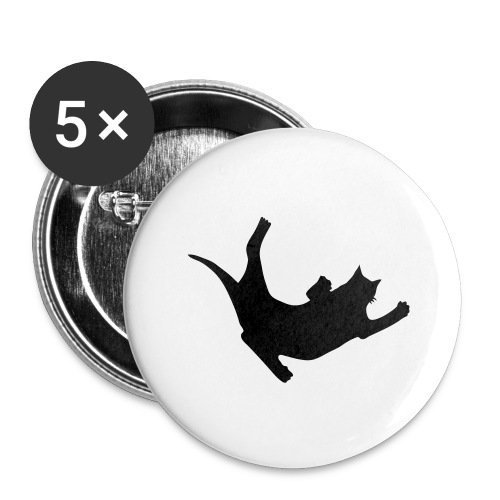 Fly Cat - Buttons large 2.2'' (5-pack)