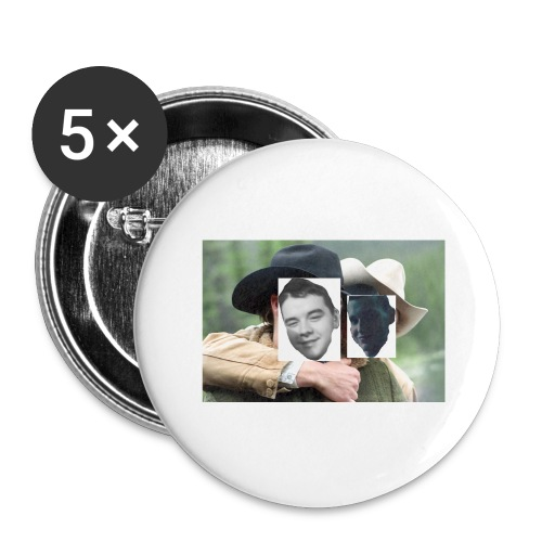 Darien and Curtis Camping Buddies - Buttons large 2.2'' (5-pack)