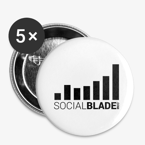 Socialblade (Dark) - Buttons large 2.2'' (5-pack)