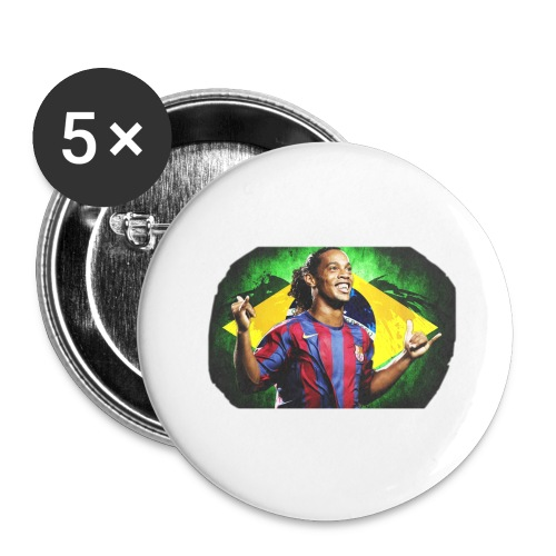 Ronaldinho Brazil/Barca print - Buttons large 2.2'' (5-pack)