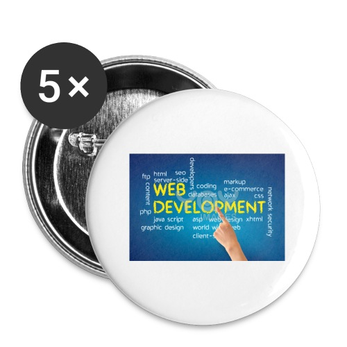 web development design - Buttons large 2.2'' (5-pack)