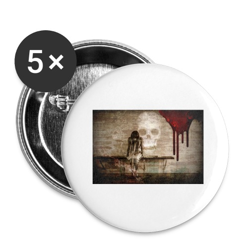 sad girl - Buttons large 2.2'' (5-pack)