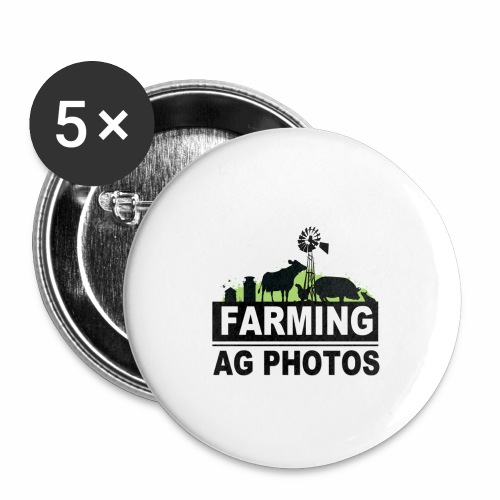Farming Ag Photos - Buttons large 2.2'' (5-pack)