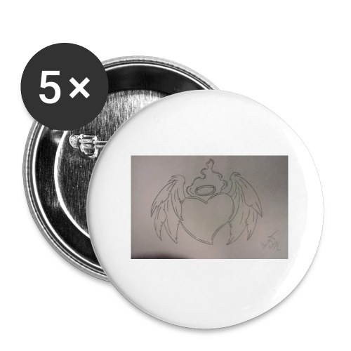 Angel - Buttons large 2.2'' (5-pack)