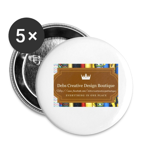 Debs Creative Design Boutique with site - Buttons large 2.2'' (5-pack)