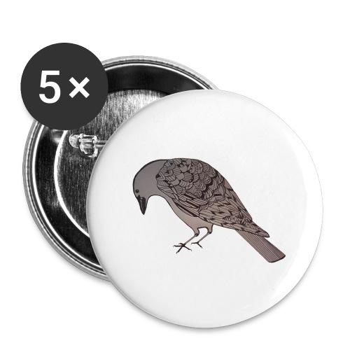 art deco raven - Buttons large 2.2'' (5-pack)