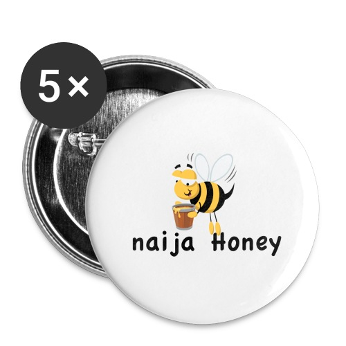 naija honey... - Buttons large 2.2'' (5-pack)