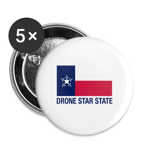 Drone Star State - Long Sleeve - Buttons large 2.2'' (5-pack)