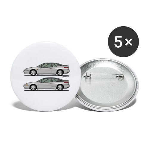SVX Liquid Silver Duo - Buttons large 2.2'' (5-pack)