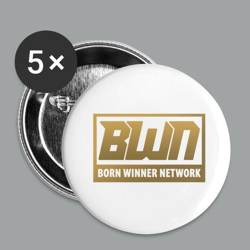 BWN (Gold) - Buttons large 2.2'' (5-pack)