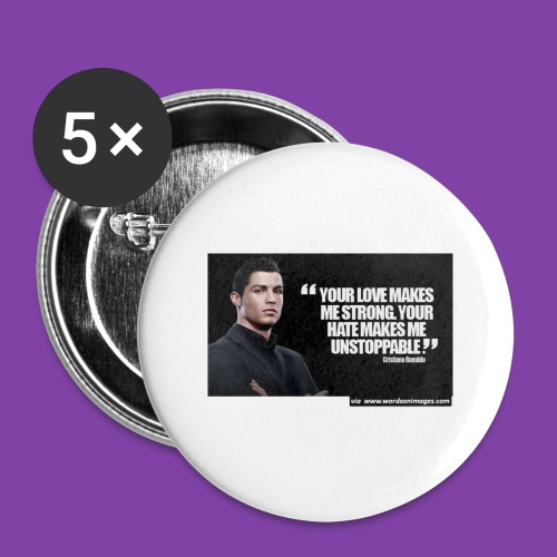 255777-Cristiano-ronaldo------quote-w - Buttons large 2.2'' (5-pack)