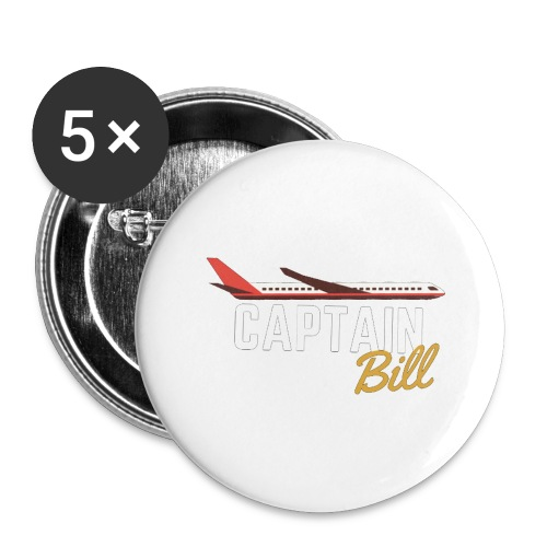 Captain Bill Avaition products - Buttons large 2.2'' (5-pack)