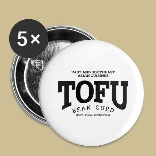 Tofu (black) - Buttons large 2.2'' (5-pack)