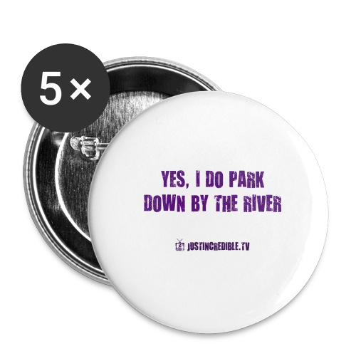 Down by the river - Buttons large 2.2'' (5-pack)