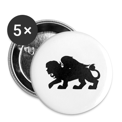Sphynx Silhouette - Buttons large 2.2'' (5-pack)