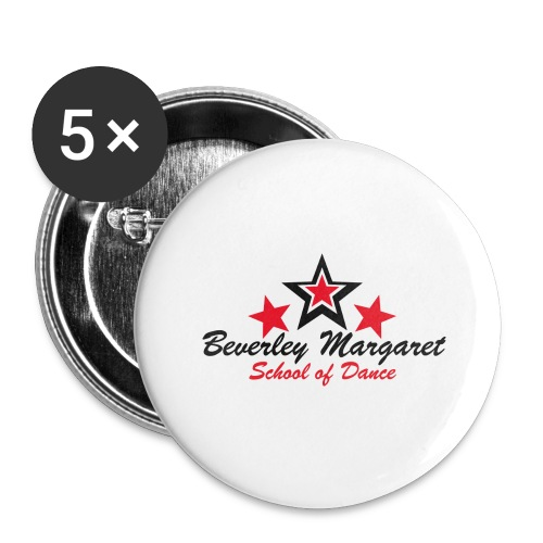 on white plus size - Buttons large 2.2'' (5-pack)