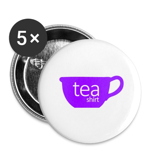 Tea Shirt Simple But Purple - Buttons large 2.2'' (5-pack)