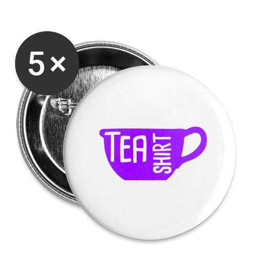 Tea Shirt Purple Power of Tea - Buttons large 2.2'' (5-pack)