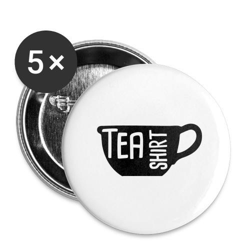 Tea Shirt Black Magic - Buttons large 2.2'' (5-pack)