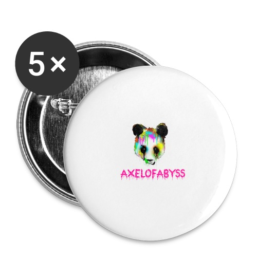Axelofabyss panda panda paint - Buttons large 2.2'' (5-pack)