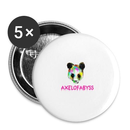 Axelofabyss panda panda paint - Buttons large 2.2'' (5-pack)
