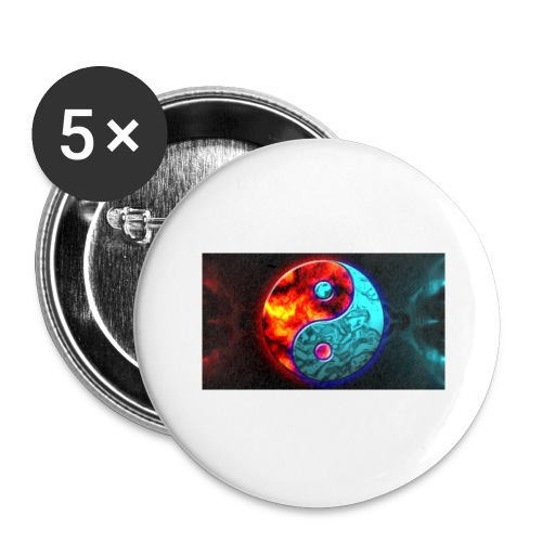 YIN N YANG - Buttons large 2.2'' (5-pack)