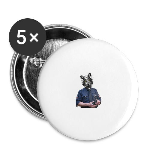 wolf police - Buttons large 2.2'' (5-pack)