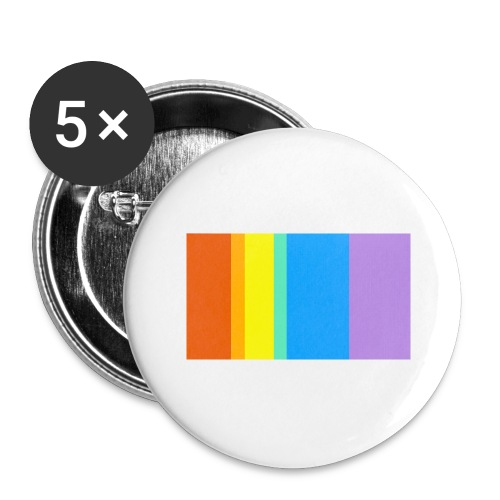 Modern Rainbow - Buttons large 2.2'' (5-pack)