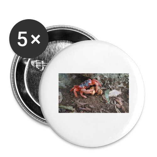 Red Crab - Buttons large 2.2'' (5-pack)