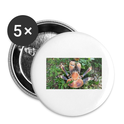 ROBBER CRAB - Buttons large 2.2'' (5-pack)