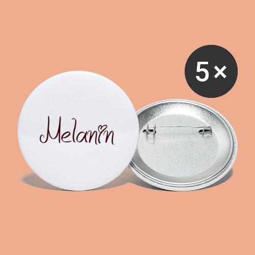 I Love Melanin - Buttons large 2.2'' (5-pack)