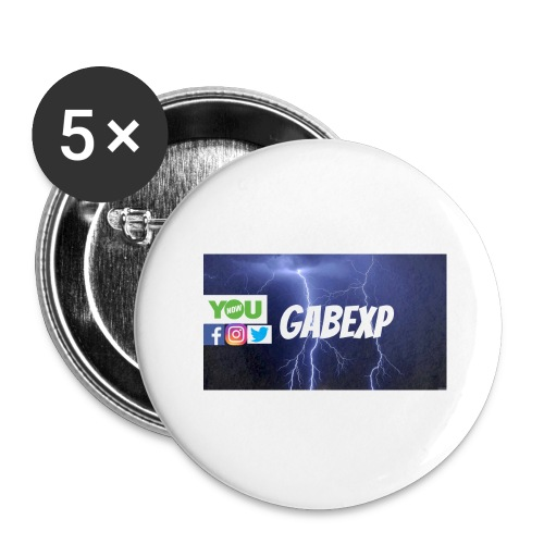 gabexp 1 - Buttons large 2.2'' (5-pack)