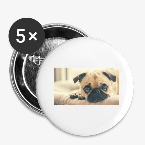 Pug - Buttons large 2.2'' (5-pack)