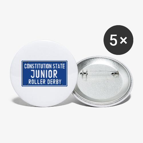 Constitution State Junior Roller Derby - Buttons large 2.2'' (5-pack)