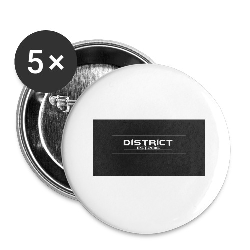 District apparel - Buttons large 2.2'' (5-pack)