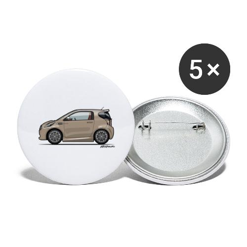 AM Cygnet Blonde Metallic Micro Car - Buttons large 2.2'' (5-pack)