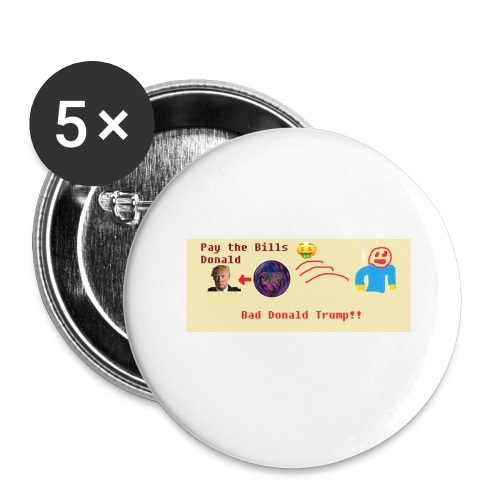 donald trump gets hit with a ball - Buttons large 2.2'' (5-pack)