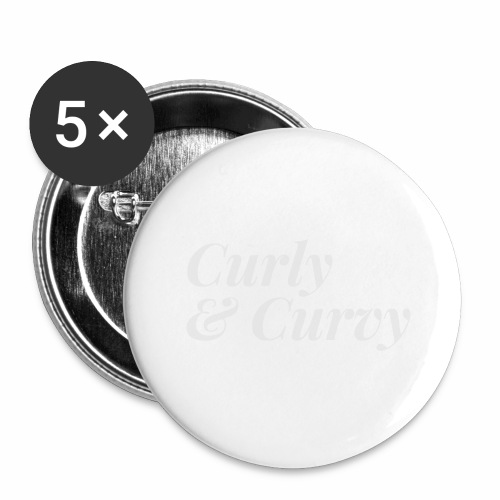 Curly & Curvy Women's Tee - Buttons large 2.2'' (5-pack)