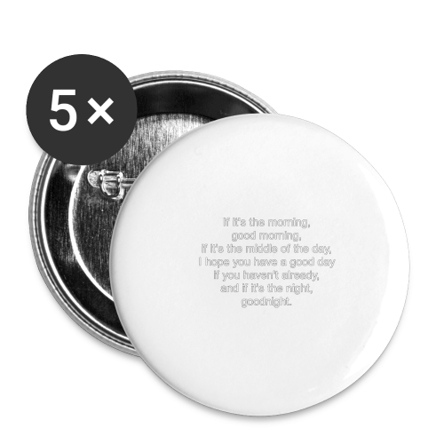 Leo's New Signature Sign-Off (Time Zones Suck) - Buttons large 2.2'' (5-pack)