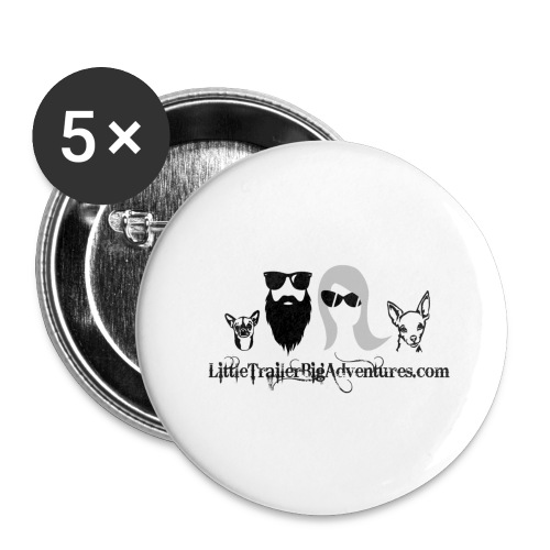 LTBA Heads Logo - Buttons large 2.2'' (5-pack)