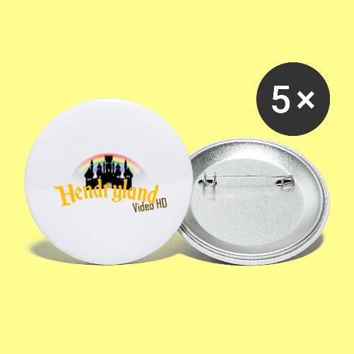 HENDRYLAND logo Merch - Buttons large 2.2'' (5-pack)