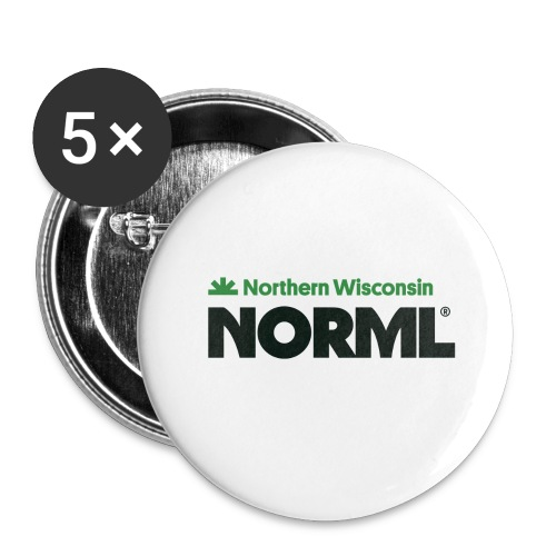 Northern Wisconsin NORML - Buttons large 2.2'' (5-pack)