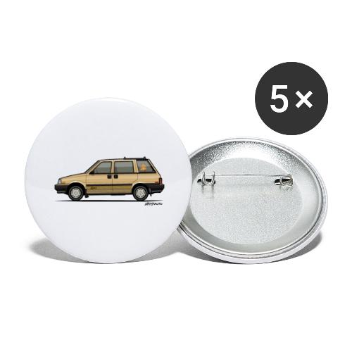 Nissan Stanza 4wd Multi Wagon Datsun Prairie Gold - Buttons large 2.2'' (5-pack)