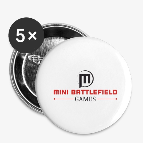 Mini Battlefield Games Logo - Buttons large 2.2'' (5-pack)