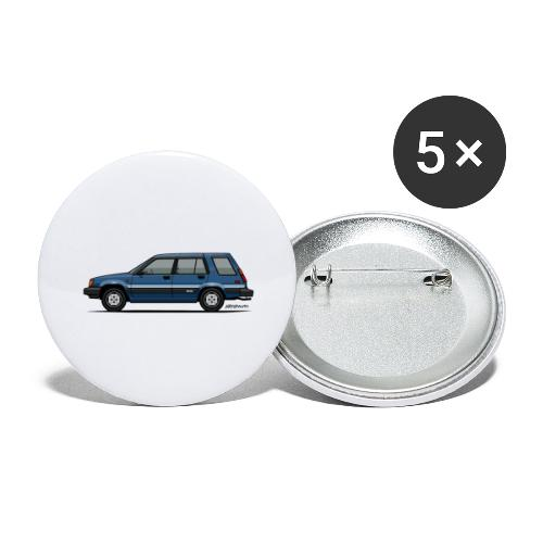 Toyota Tercel SR5 4WD Wagon Blue - Buttons large 2.2'' (5-pack)
