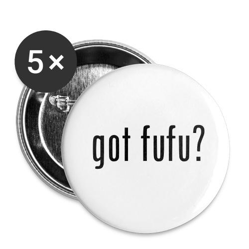 gotfufu-black - Buttons large 2.2'' (5-pack)